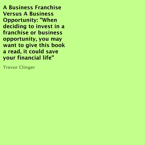 A Business Franchise Versus a Business Opportun...