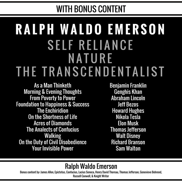 Self Reliance, Nature, The Transcendentalist: P...