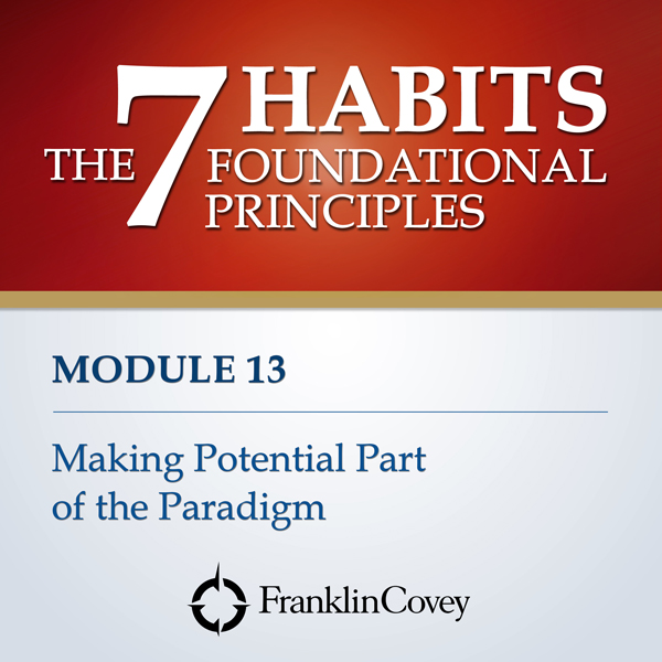 Module 13 - Making Potential Part of the Paradi...