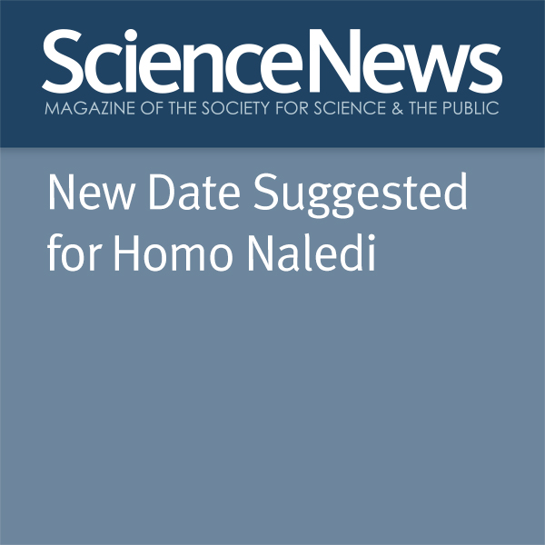 Bruce Bower New Date Suggested for Homo Naledi , Hörbuch, Digital, 1, 6min