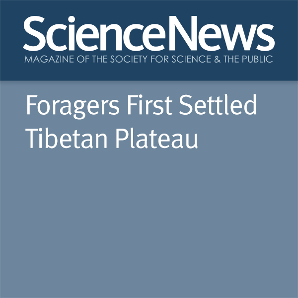 Bruce Bower Foragers First Settled Tibetan Plateau , Hörbuch, Digital, 1, 4min
