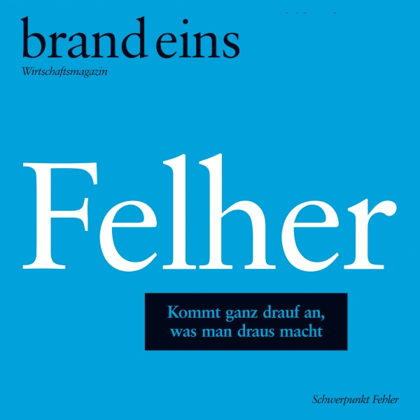 brand eins audio: Felher, Hörbuch, Digital, 1, ...