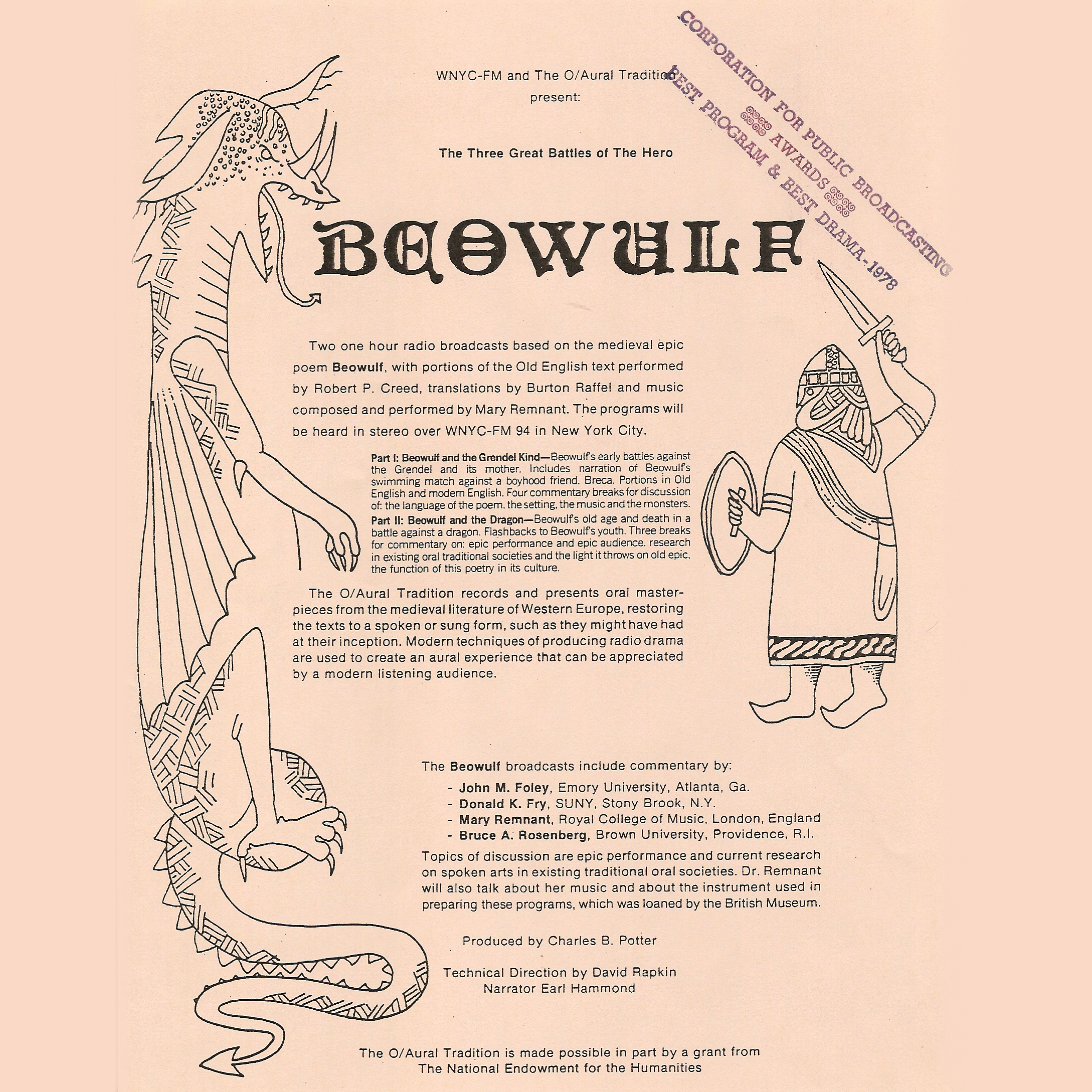 Beowulf, Part II: The Dragon , Hörbuch, Digital, 1, 59min